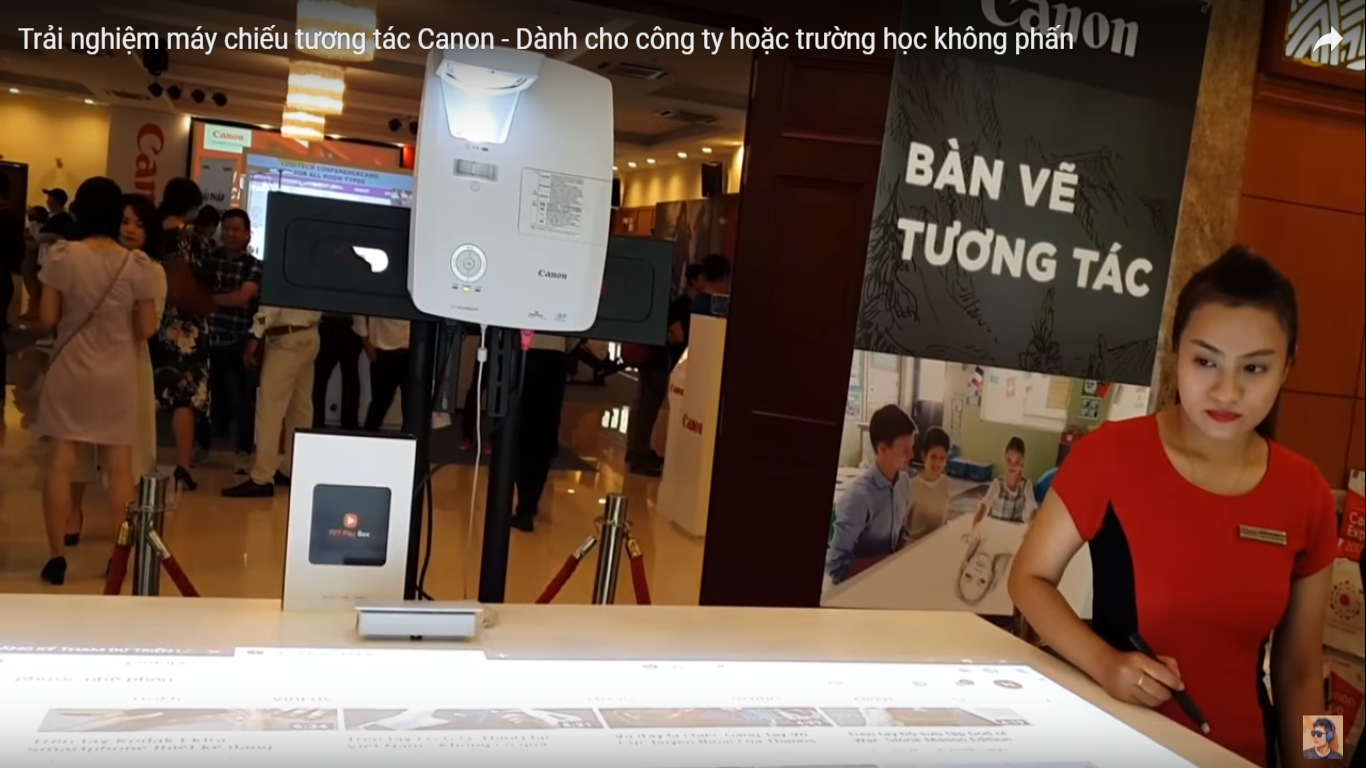 Trải nghiệm máy chiếu Canon dành cho công ty hoặc trường học không phấn